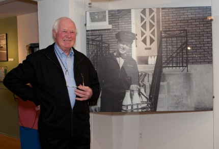 William J. Kerr, milkman, in Run de lait exhibition, 2010. Photo: Julie Landreville, Écomusée du fier monde