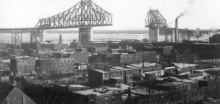 Le pont Jacques-Cartier, 1929. Compagnie Dominion Bridge, Bibliothèque et archives Canada