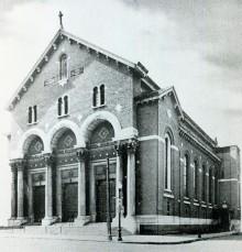 Église Sainte-Marguerite-Marie-Alacoque : 1969, rue Ontario Est, date inconnue. Écomusée du fier monde