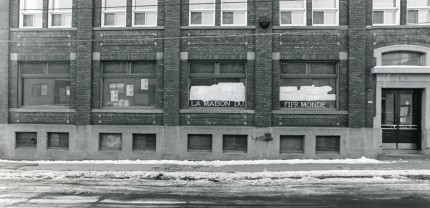 The Maison du fier monde at 1930, Champlain Street, 1983. Écomusée du fier monde