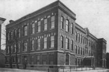 École Salaberry, première école en béton armé construite pour la Commission des écoles catholiques de Montréal, rues Robin et Beaudry, non datée. Écomusée du fier monde.