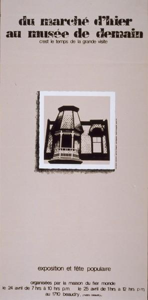 Du marché d'hier au musée de demain exhibition, 1981. Graphic design: Germain Bergevin, Maison du fier monde