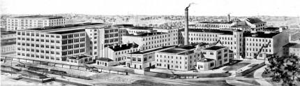 <b>Engraving of the Canadian Rubber Company.</b> Écomusée du fier monde