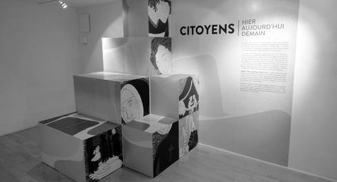 Exposition Citoyens – Hier, aujourd'hui, demain, 2012. Photo : Écomusée du fier monde