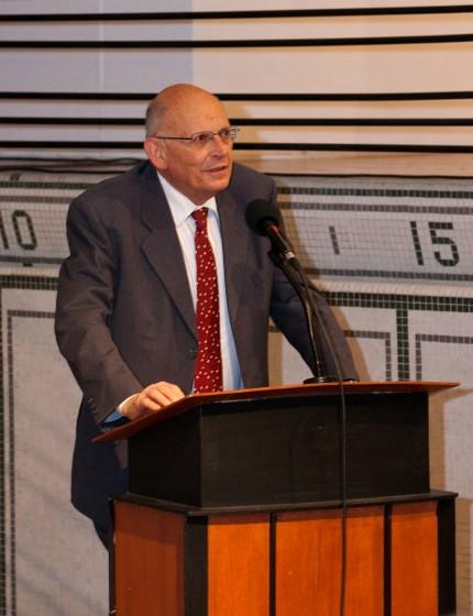 <b>Hugues de Varine, at the 30-year anniversary of the Écomusée, 2012.</b> Photo: Julie Landreville, Écomusée du fier monde