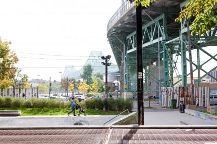 <b>Surroundings of the Jacques-Cartier bridge, 2011.</b> Photo: Julie Landreville, Écomusée du fier monde
