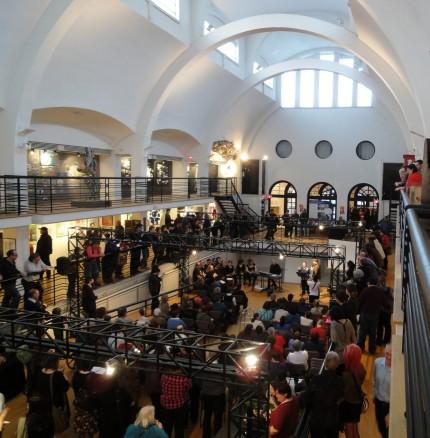 <b>Inauguration of <i>D'un œil différent</i> exhibition, 2012.</b> Photo: Émilie Allain, Écomusée du fier monde