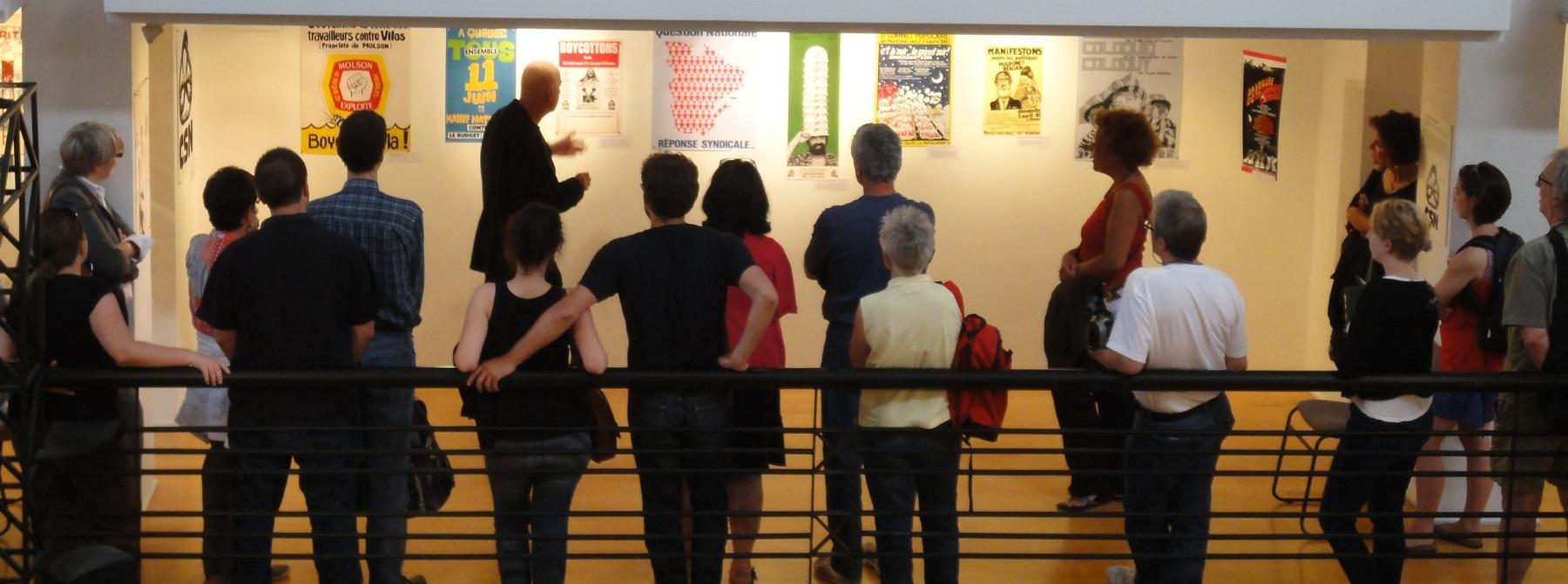 <b>Guided visit, 2012.</b> Photo: Adèle Paul-Hus, Écomusée du fier monde