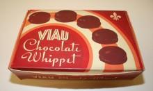 <b>Boîte en carton pour les biscuits Whippet, vers 1945.</b> Collection Viau, Écomusée du fier monde