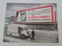 <b>Promotional brochure for the 25th anniversary of the Ferme St-Laurent, 1952.</b> Montréal dairy heritage collection, Écomusée du fier monde