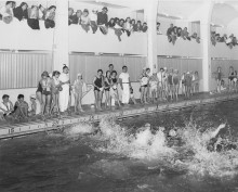 <b>Competition, 1962.</b> Photo: Service des Parcs de Montréal, Écomusée du fier monde