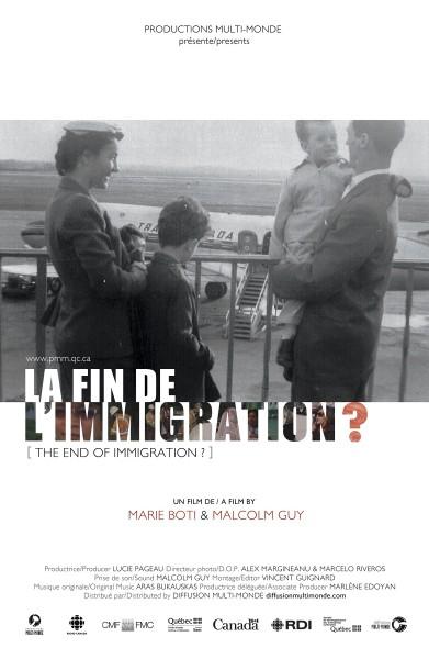 Affiche La fin de l'immigration?