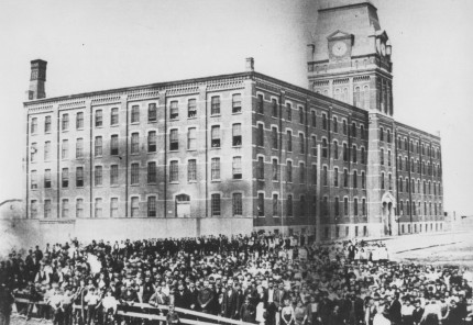 Inauguration de l'usine, 1876. Collection Macdonald Tobacco, Écomusée du fier monde