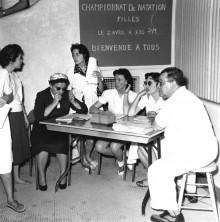 <b>A team at work during a female competition, 1962.</b> Photo: Service des Parcs de Montréal, Écomusée du fier monde