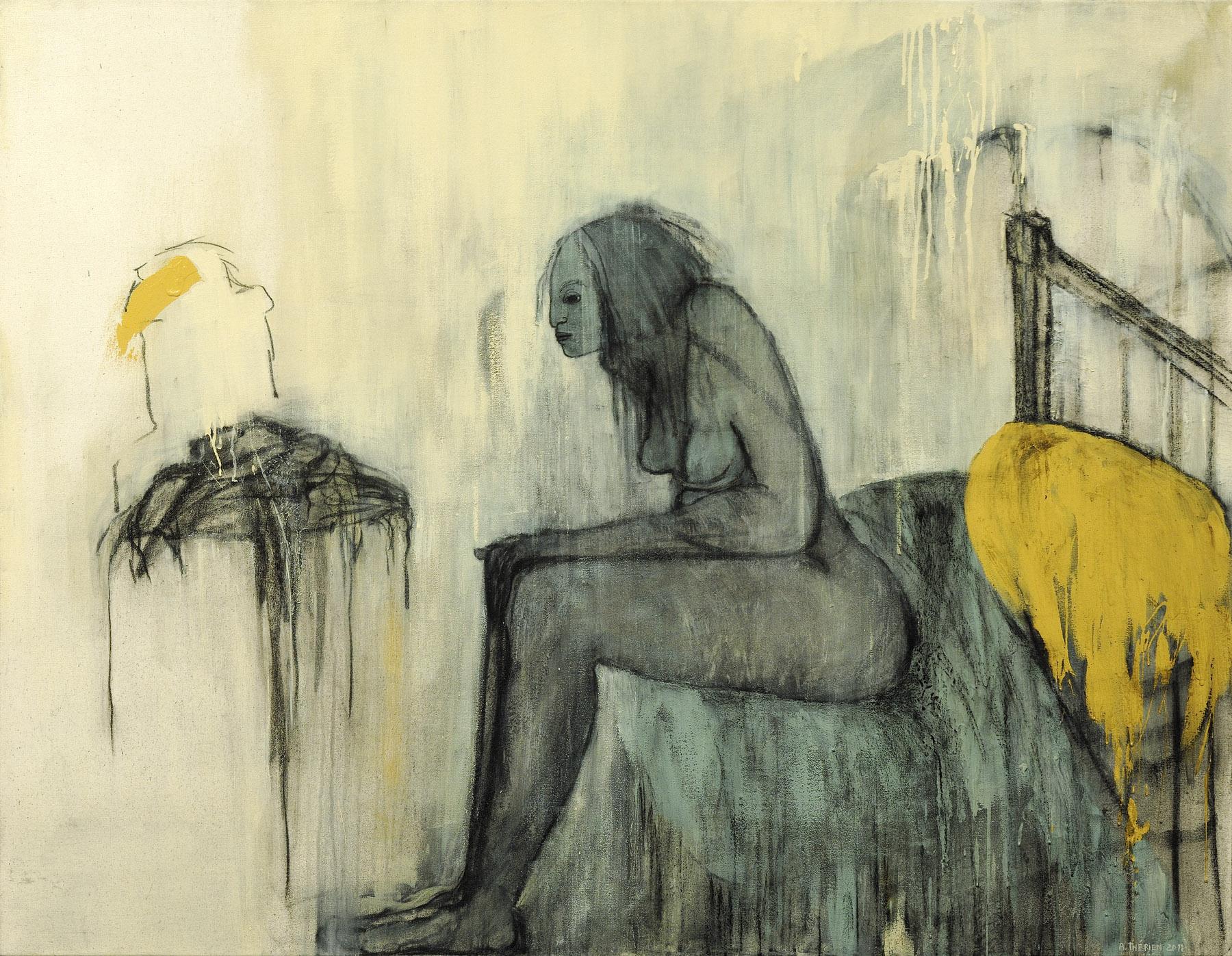Thérien_Femme assise au bord du lit