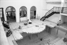 <b>Construction site, 1995-1996.</b> Photo: Guy Des Rosiers, Écomusée du fier monde