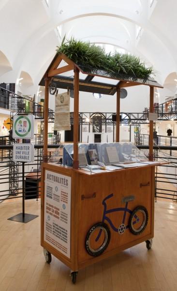 Le kiosque itinérant, 2009. Photo : Julie Landreville, Écomusée du fier monde