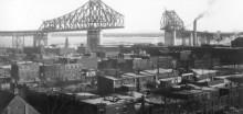 Le pont Jacques-Cartier, 1929. Compagnie Dominion Bridge, Bibliothèque et archives Canada