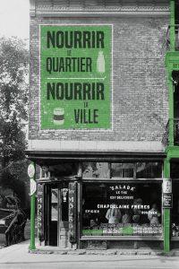<b>Épicerie Chapdelaine & frères, circa 1920.</b> Edgar Gariepy, Collection Félix Barrière, BAnQ Vieux-Montréal, Bibliothèque et Archives nationales du Québec Graphic design: Coquelicot design