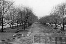 Le Parc Médéric-Martin depuis la rue de Rouen, vers 1990