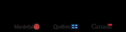 Bande logos : Montréal, Québec, Canada